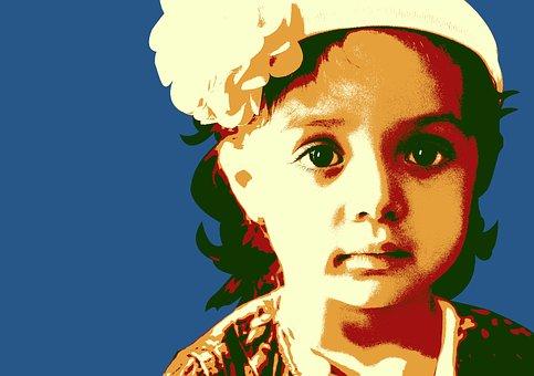 Girl, Stencil, Multi Layer Stencil, Color, Fototrucage
