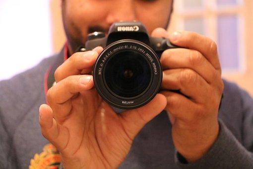 Mirror, Selfie, Dslr, 18mm, 135mm, Clicking, Photo