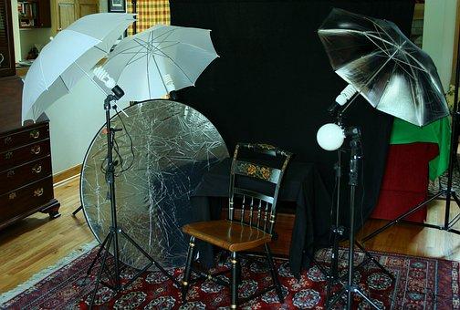 Amateur Photo Studio, Homemade, Home Studio