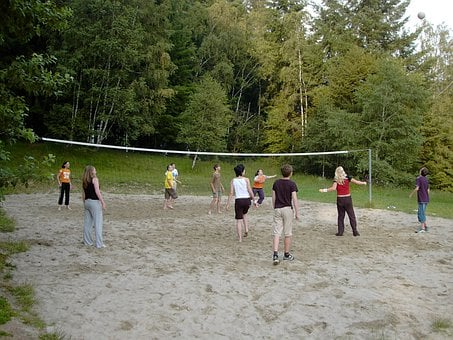 Beach Volleyball, Young People, Girl, Boys, Movement