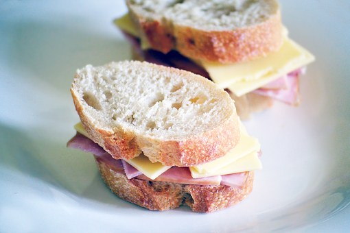 Sandwich, Ham, Cheese, Bread, Rustic, Lunch, Food