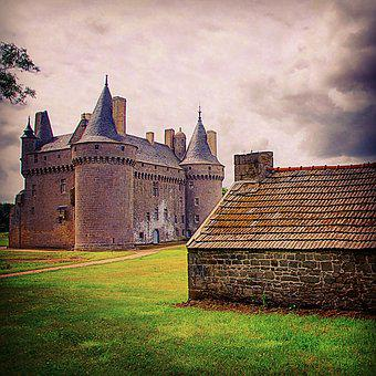 Brittany, Finistère, France, Castle, House, Hut