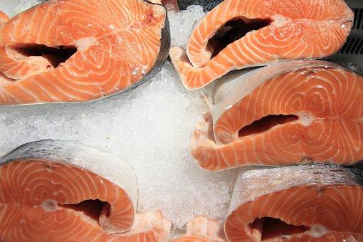 Latvia, Riga, Central, Market, Food, Fish, Fresh, Ice