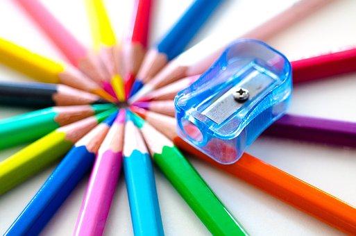 Pencils, Colorful, Sharpener, Colored Pencils