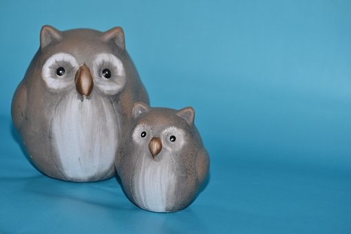 Owls, Ceramic, Fig, Craft, Potters, Decoration, Animal