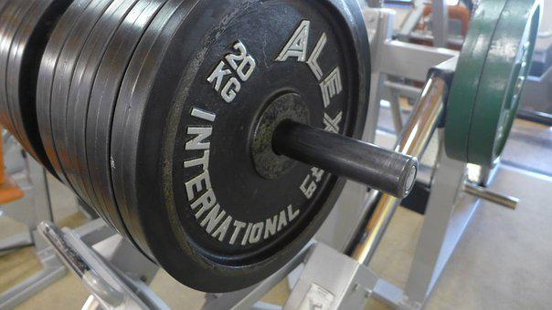 Weights, Training, Fitness Room, Dumbbells, Force