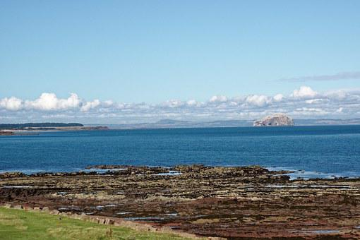 Sea, Bass Rock, Firth Of Forth, Scotland, Nature, Water
