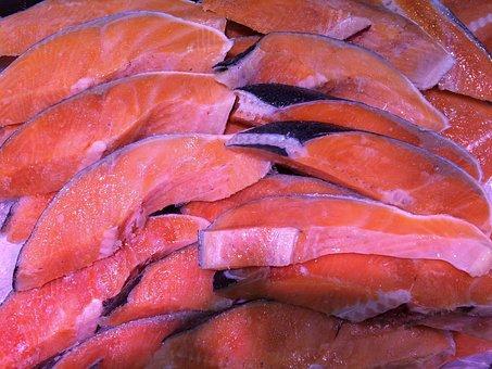 Salmon, Salted Salmon, Fish, Fillet, Department