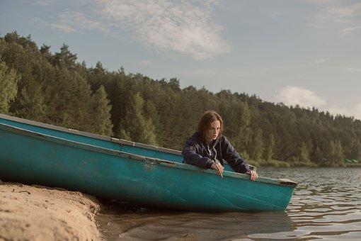 Girl, Boat, River, Water, Photoshoot, Ocean, Model