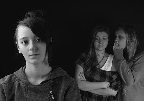 Gossip, Girls, Group, Portrait, School