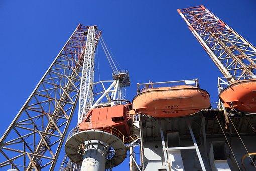 Netherlands, Ijmuiden, Drilling, Rig, Offshore, Oil