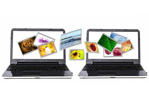 Photos, Sharing, Transfer, Laptop, Internet