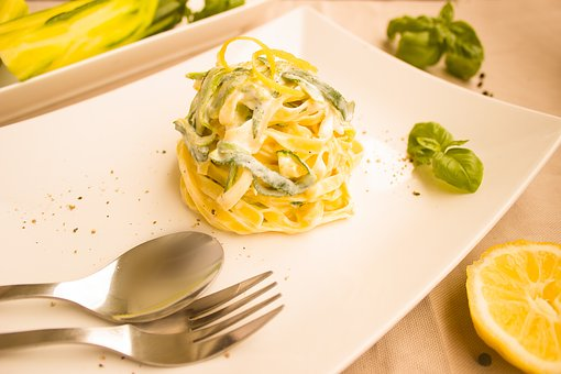 Noodles, Zucchini, Lemon, Pasta, Italian, Sauce