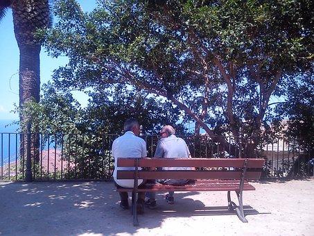 Friendship, Landscape, Elderly, Small Talk, Calabria