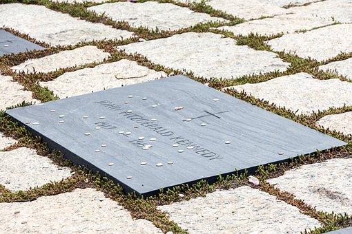 Jfk, Kennedy, Gravestone, Marker, Stone, Marble