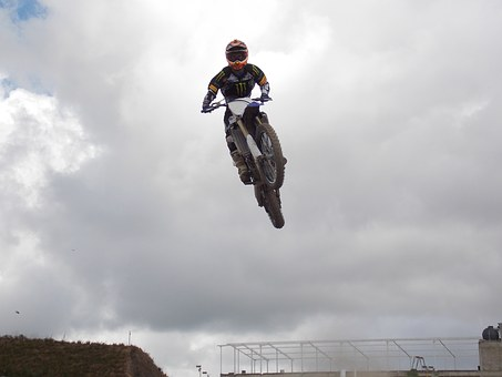 Motocross, Moto, Jump, Landscape, Outdoors, Nature