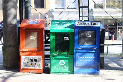 Vancouver, Newspaper, Dispenser, Canada, Metro, Epoch