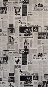 Newspaper, Black And White, Recording, Wallpapper, News