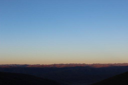 Plateau, Early In The Morning, Mountains, Views