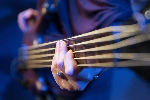 Bass Guitar, Strings, Hand, Bass, Rock, Electric