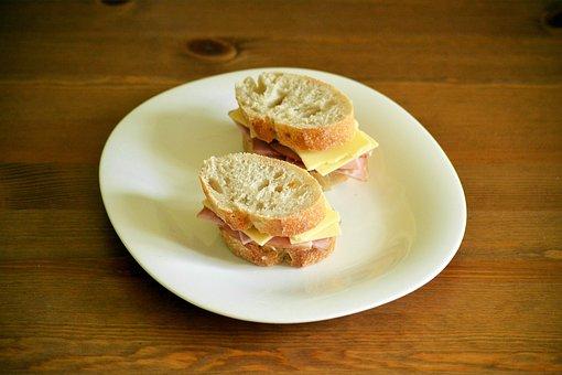 Sandwich, Ham, Cheese, Bread, Rustic, Lunch, Food