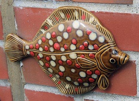 Plaice, Fish, Sculpture, Mashing Olle, Figure