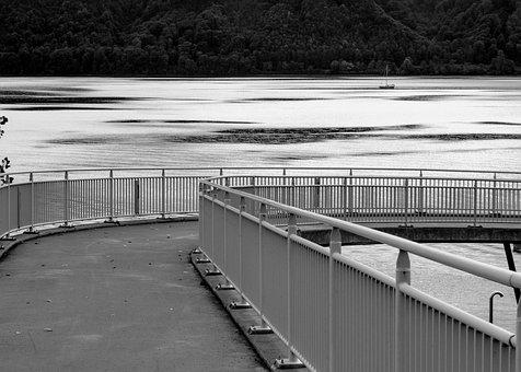 Pedestrian Bridge, Transfer, Lake Constance, Sipplingen
