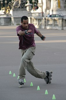 Skating, Cones, Exercise, Fitness, Travel, Activity