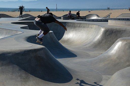 Usa, America, California, Skater, Venice Beach, Skating