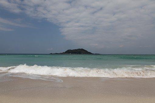 Island, Sea, Beach, Waves, Jeju Island
