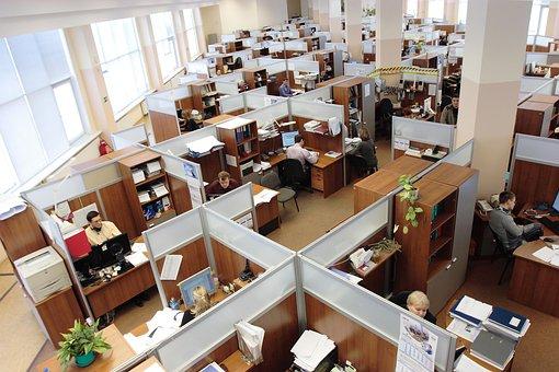 Russia, Office, Men, Women, Working, Workers, Complex