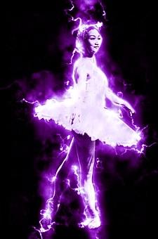 Ballet, Dancer, Electric, Ballet Dancer, Ballerina