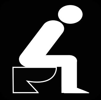Man, Toilet, Bathroom, Sitting, Pictogram