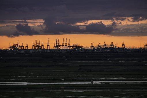 Cranes, Port, Valencia