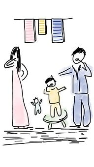 Family, Morning, Child, Baby, Together
