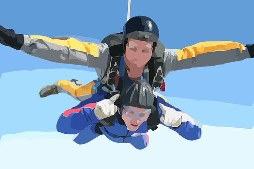 Skydiving, Skydiver, Free Fall, Falling