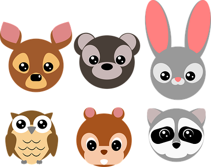 Woodland, Animals, Wildlife, Deer, Bear, Rabbit, Bunny