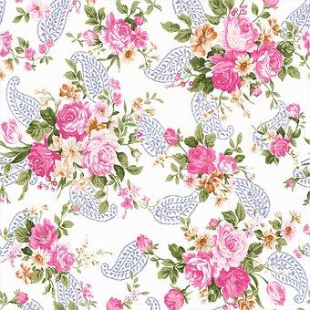 Digital Paper, Vintage Botanical, Floral, Leaves, Roses