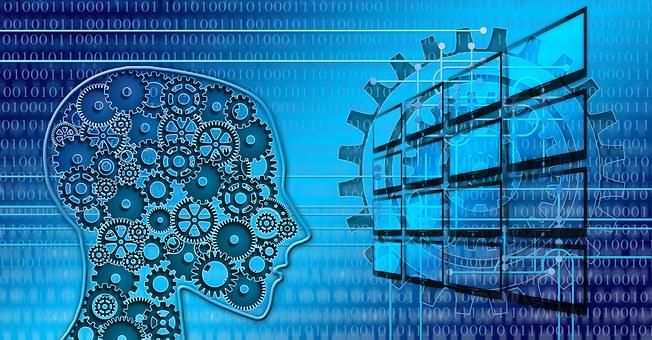 Binary, Digitization, Head, Person, Monitor, Display