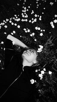 Girl, Flowers, Woman, Photoshoot, Summer