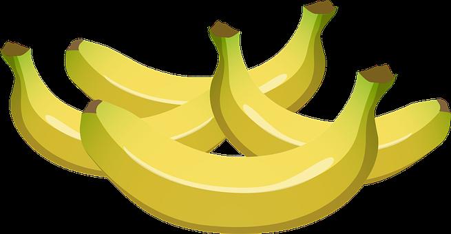 Bananas, Yellow, Fruits, Foods, Edible, Sweet
