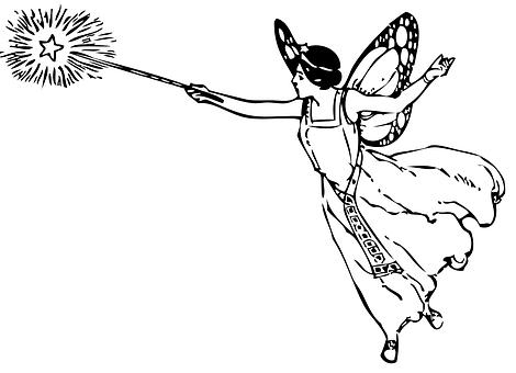 Magic, Wand, Female, Flying, Fantasy, Fairy, Magical
