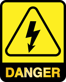 Graphic, Caution, Warning, Electric, Electricity, Shock