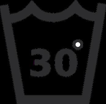 Hand Wash Symbol, Wash At 30 Degrees, Thirty Degrees