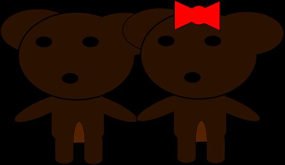 Couple, Team, Friends, Bff, Teddy, Bears, Teddy Bears