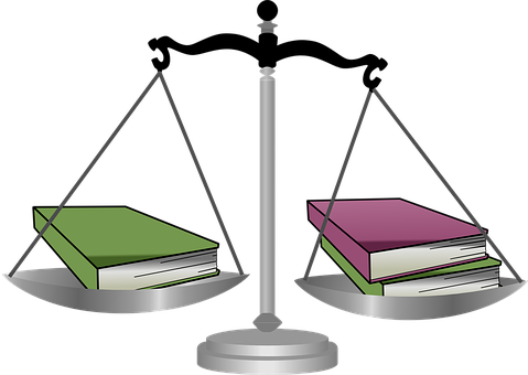 Scale, Weigh, Judge, Books, Equial, Balance, Justice