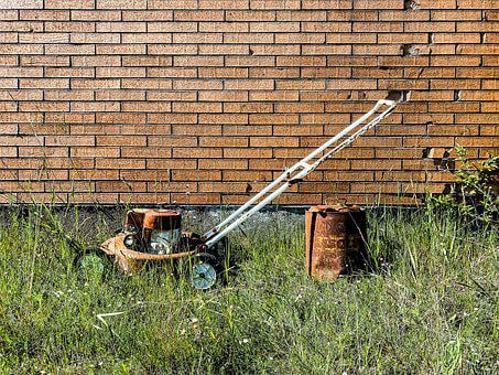 Lawn Mower, Mower, Lawnmower, Equipment, Old, Rusty