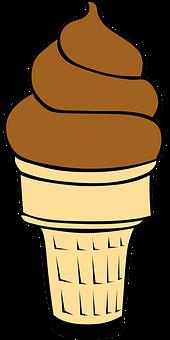 Ice Cream Cone, Chocolate Ice Cream