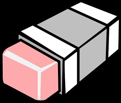 Eraser, Rubber, Pink, Remove, Erase, Office, Delete