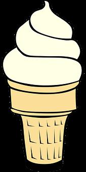 Ice Cream Cone, Vanilla Ice Cream